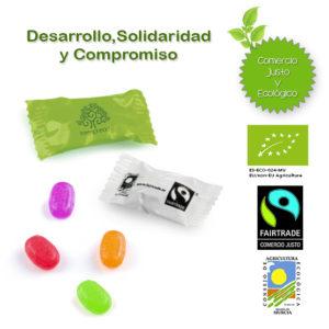 Caramelos Sobre Ecológicos y Comercio Justo Personalizados
