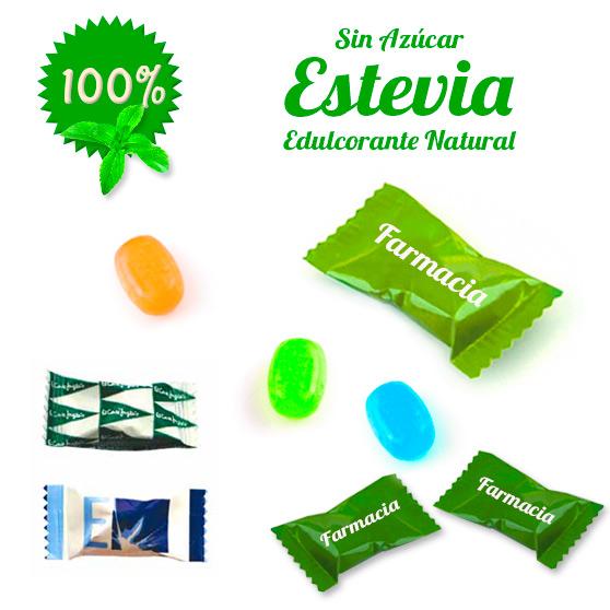 Caramelos Sobre Personalizados con Estevia