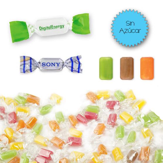 Caramelos 2 Lazos Mini Sin Azúcar Personalizados
