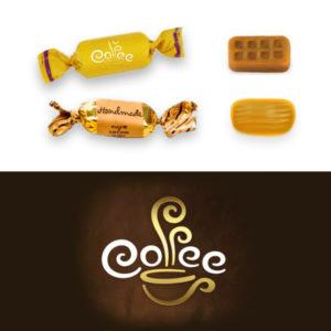 Caramelos Café y Leche Personalizados 2 lazos
