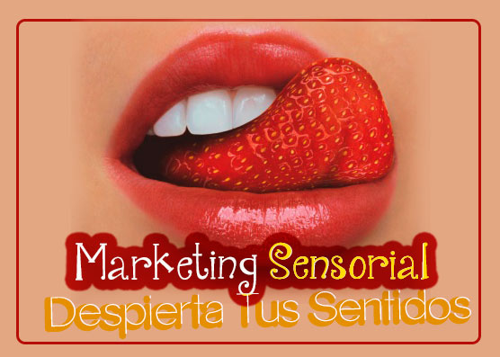 Marketing sensorial tarjeta de vista caramelos