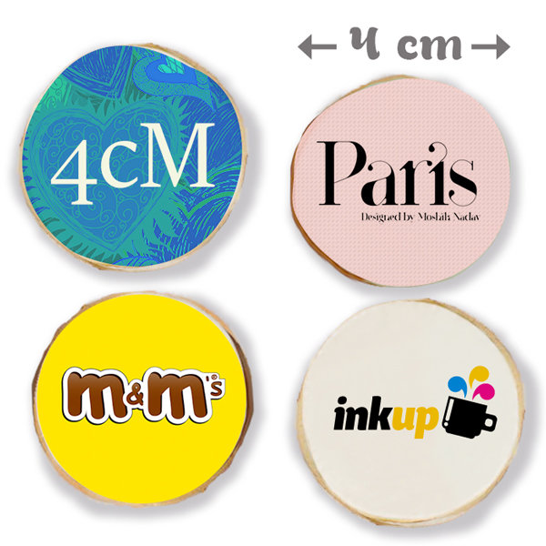 Galletas personalizadas redondas 4 cm todo caramelos for Picas redondas
