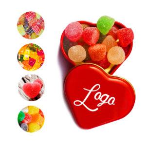 Latas Corazon Personalizadas Rellena con Caramelos