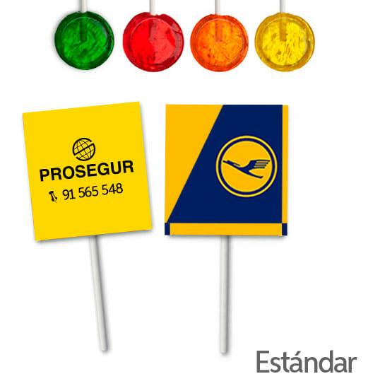 Piruletas Redondas Personalizadas Sobre Impreso Estandar