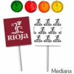Piruletas Personalizadas Redondas Sobre Impreso Medianas