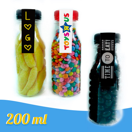 Botellas Personalizadas Etiqueta Rellenas de Chuches 200 ml