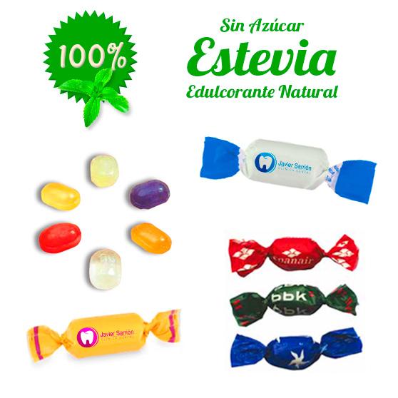 Caramelos 2 lazos Personalizados con Estevia