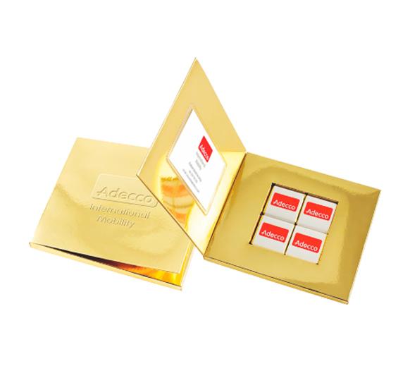 Tableta de Chocolate Personalizada Tarjeta de Visita
